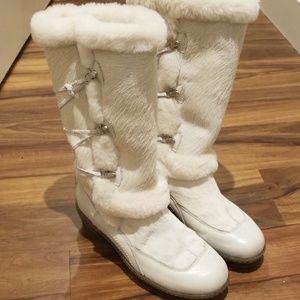 Made in Italy white apres-ski boots